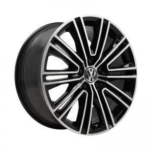 Диск литой R18 Volkswagen, Vicenza Black Glossy, 8J x 18 ET44
