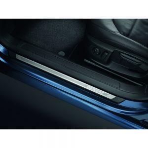 Накладки на пороги Volkswagen Passat (B7), с надписью Passat