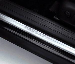 Накладки на пороги Volkswagen Passat (B6) 2005-2010, с надписью Passat