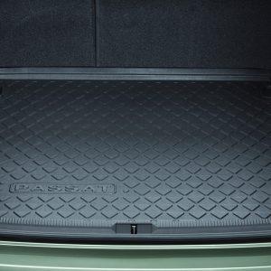 Коврик в багажник Volkswagen Passat (B6) Variant / (B7) Alltrack, с надписью, для автомобилей с базовым полом багажник
