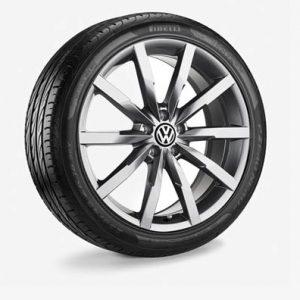 Летнее колесо в сборе VW Passat в дизайне Monterey, 235/45 R18 94W, Gray Metallic, 8.0J x 18 ET44