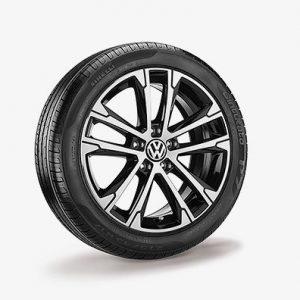Летнее колесо в сборе VW Passat в дизайне Singapore, 215/55 R17 94W, Black, 7.0J x 17 ET40