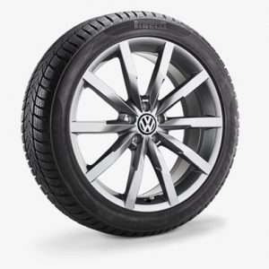 Зимнее колесо в сборе VW Passat в дизайне Monterey, 235/45 R18 98V XL, Galvano gray, 8.0J x 18 ET44