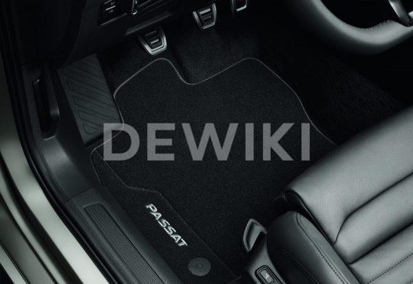 Коврики в салон Volkswagen Passat (B8), текстильные Premium передние и задние
