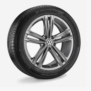 Летнее колесо в сборе VW Arteon в дизайне Sebring, 245/45 R18 96W, Gray Metallic, 8.0J x 18 ET40