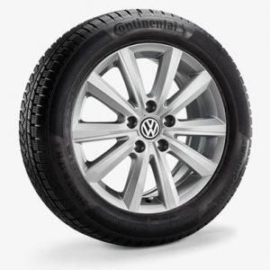 Зимнее колесо в сборе VW Arteon в дизайне Merano, 215/55 R17 94H, Silver, 7.0J x 17 ET38