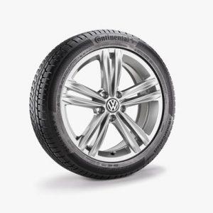 Зимнее колесо в сборе VW Arteon в дизайне Sebring, 245/45 R18 96V, Galvano gray Metallic, 8.0J x 18 ET40
