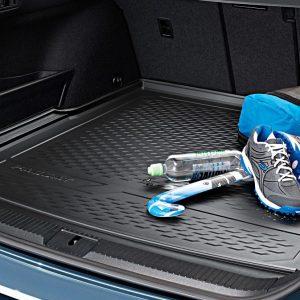 Коврик в багажник Volkswagen Passat (B8) Variant, с надписью, для автомобилей с регулируемым полом