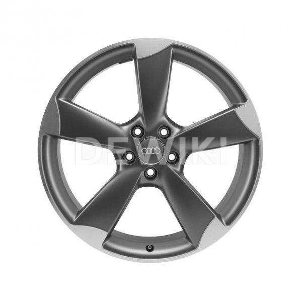 Алюминиевый литой диск R19 роторный дизайн 5 спиц Audi, Titanium, 11,0J x 19 ET50