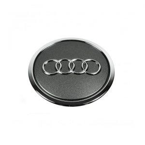 Колпачок ступицы колеса Audi, антрацит с хромированным кольцом