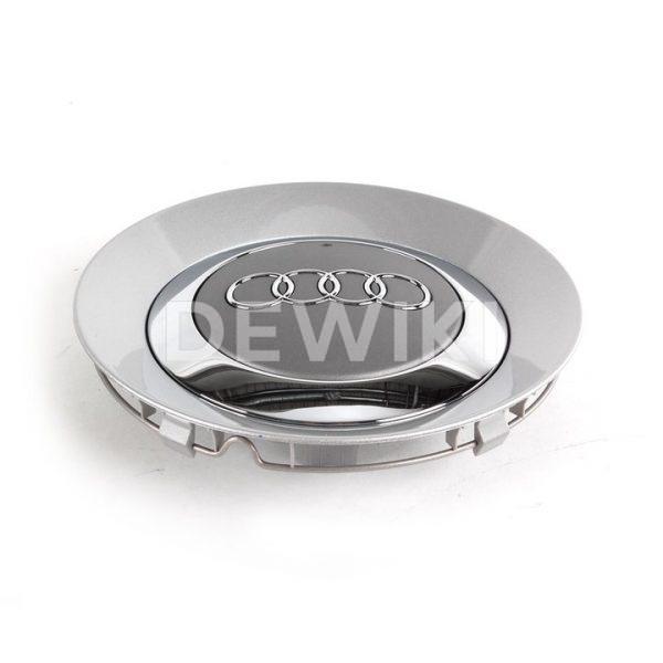 Колпачок ступицы колеса Audi A3, A4, A6, серый металлик