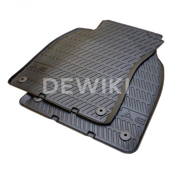 Резиновые передние коврики Audi A6 (C6)