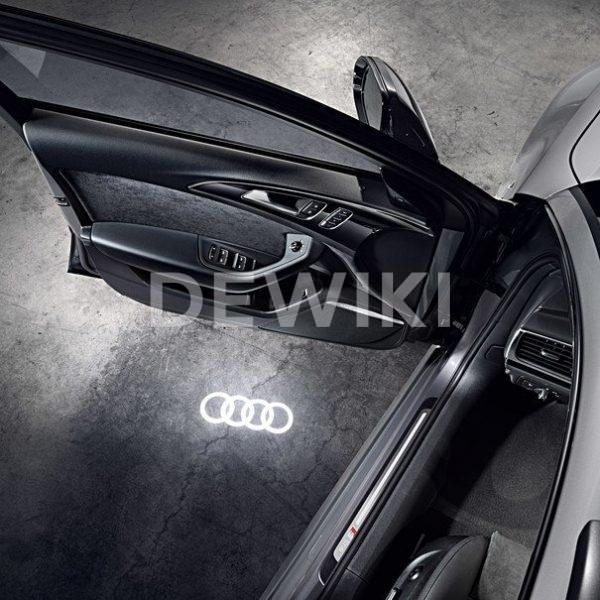 Светодиодная подсветка порогов, кольца Audi LED, широкий разъем