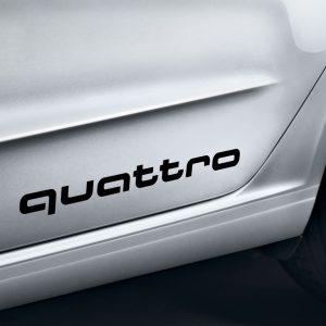 Декоративная пленка Audi с надписью «quattro», Black