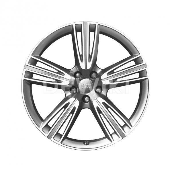 Алюминиевый литой диск R20 дизайн 5 тройных спиц Audi, Anthracite / Polished, 8,5J x 20 ET45