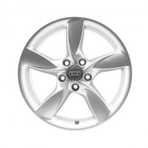 Алюминиевый литой диск R17 в 5-спицевом дизайне Audi, Brilliant Silver, 7,5J x 17 ET37
