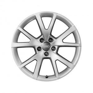Алюминиевый литой диск R18 дизайн 5 V-образных спиц Audi, Brilliant Silver, 7,5J x 18 ET37