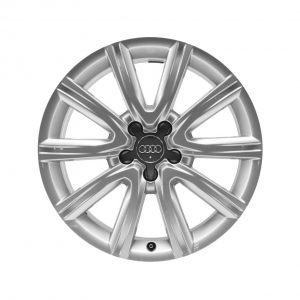 Алюминиевый литой диск R18 дизайн 5 V-образных спиц Audi, Brilliant Silver, 8,0J x 18 ET39