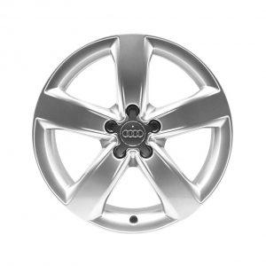 Алюминиевый литой диск R18 в 5-спицевом дизайне Audi, Silver,  8,0J x 18 ET39