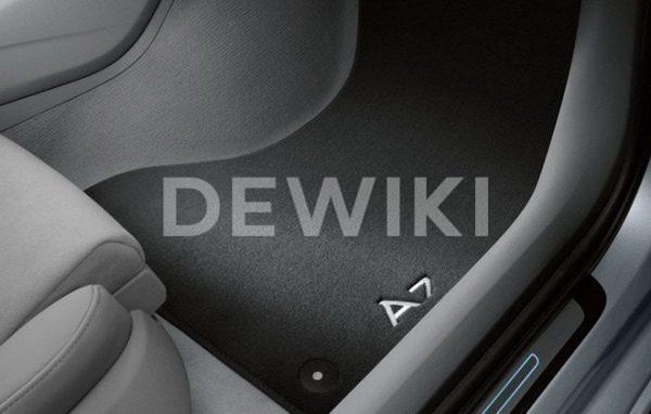 Комплект велюровых ковриков Audi A7 (4G), контрастная надпись