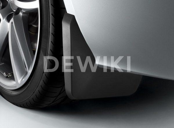 Брызговики задние Audi A7 Sportback (4K), для автомобилей без пакета S-Line