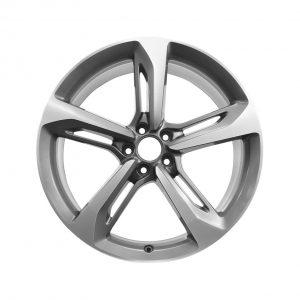 Алюминиевый литой диск R21 в 5-спицевом дизайне Audi, Titanium, 9,0J x 21 ET35