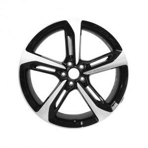 Алюминиевый литой диск R21 в 5-спицевом дизайне Audi, Black / Polished, 9,0J x 21 ET35