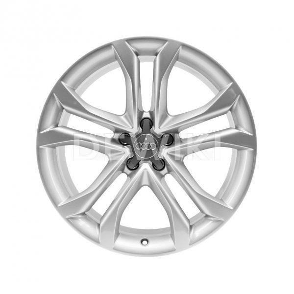 Алюминиевый литой диск R19 дизайн 5 Y-образных спиц Audi, Brilliant Silver, 8,5J x 19 ET32