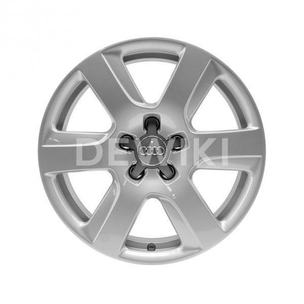 Алюминиевый литой диск R17 в 6-спицевом дизайне Audi, Brilliant Silver, 7,0J x 17 ET25