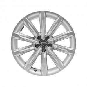 Алюминиевый литой диск R19 в 10-спицевом дизайне Audi, Silver, 8,0J x 19 ET26