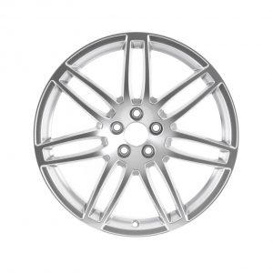 Кованый алюминиевый диск R20 дизайн 7 двойных спиц Audi, Brilliant Silver, 9,0J x 20 ET37