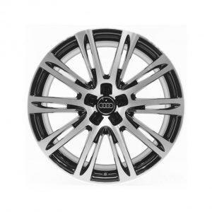 Кованый алюминиевый диск R20 дизайн 10 двойных спиц Audi, Anthracite / Polished, 9,0J x 20 ET37