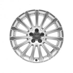 Алюминиевый литой диск R19 в 15-спицевом дизайне Audi, Silver / Polished, 9,0J x 19 ET33