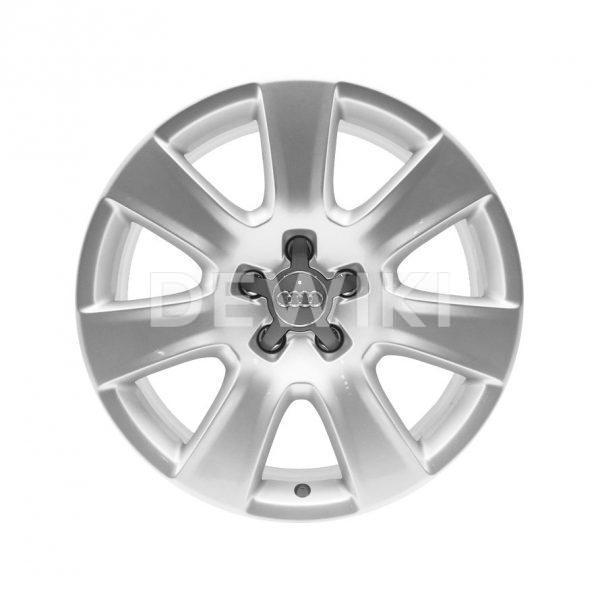 Алюминиевый литой диск R18 в 7-спицевом дизайне Audi, Brilliant Silver, 7,5J x 18 ET26