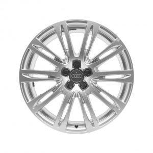 Кованый алюминиевый диск R20 дизайн 10 двойных спиц Audi, Brilliant Silver, 9,0J x 20 ET 37