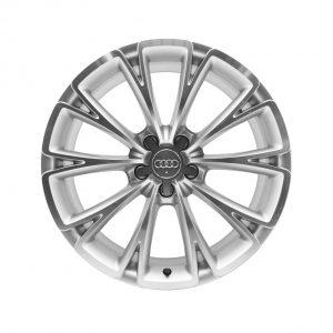 Алюминиевый литой диск R19 дизайн 10 Y-образных спиц Audi, Silvery Polished, 9,0J x 19 ET33