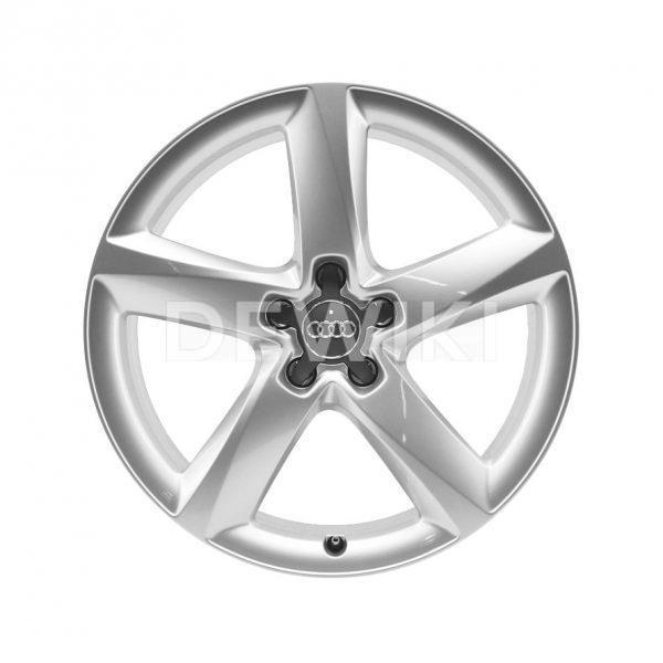 Алюминиевый литой диск R19 в 5-спицевом дизайне Audi, Brilliant Silver, 7,5J x 19 ET29