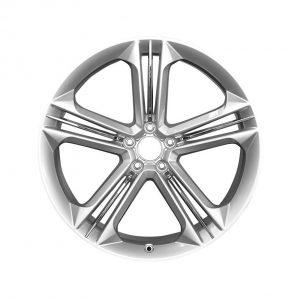 Алюминиевый литой диск R21 дизайн 5 тройных спиц Audi, Brilliant Silver, 9,0J x 21 ET35