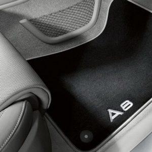 Велюровые передние коврики A8/S8 (4H/D4), контрастная надпись