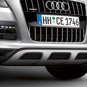 Передний фартук Offroad Audi Q7 (4L), с защитным брусом из нержавеющей стали
