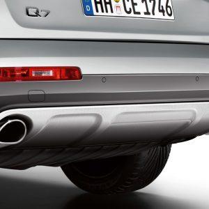 Дизайн-пакет Offroad: задний фартук Audi Q7 (4L), для автомобилей без системы помощи при парковке