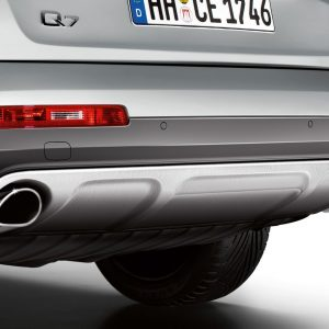 Дизайн-пакет Offroad: задний фартук Audi Q7 (4L) 3.0 TFSI, для автомобилей без системы помощи при парковке