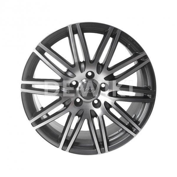 Алюминиевый литой диск R20 дизайн 10 двойных спиц  Audi, Anthracite / Polished, 9,0J x 20 ET60