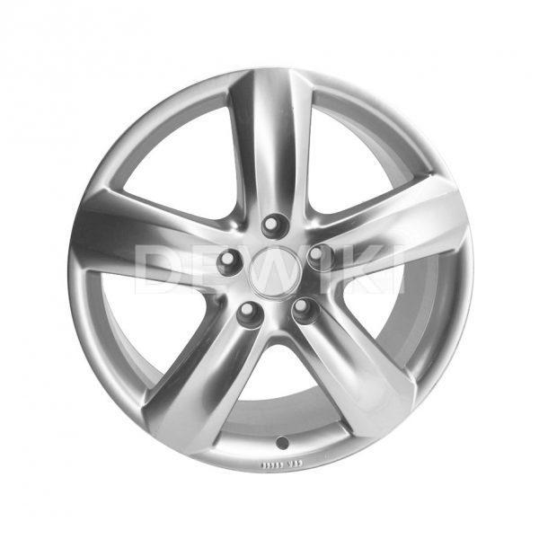 Алюминиевый литой диск R20 в 5-спицевом дизайне Audi, Royal Silver, 9,0J x 20 ET60