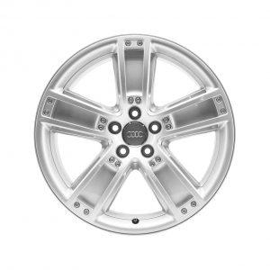 Алюминиевый литой диск R20 в 5-спицевом дизайне Audi, Brilliant Silver, 9,0J x 20 ET60