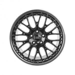 Алюминиевый литой диск R20 в 20-спицевом дизайне Audi, Black, 10,0J x 20 ET44