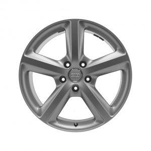 Алюминиевый литой диск R20 дизайн 5 широких спиц Audi, Titanium, 9,0J x 20 ET60