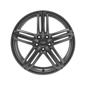 Алюминиевый литой диск R21 дизайн 5 сегментных спиц Audi, Matt Titanium, 10,0J x 21 ET44