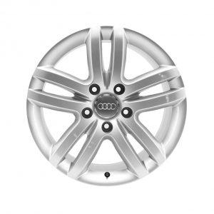 Алюминиевый литой диск R18 дизайн 5 двойных спиц Audi, Silver, 8,5J x 18 ET58