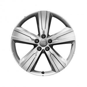 Алюминиевый литой диск R20 в 5-спицевом дизайне Audi, Brilliant Silver, 8,0J x 20 ET28